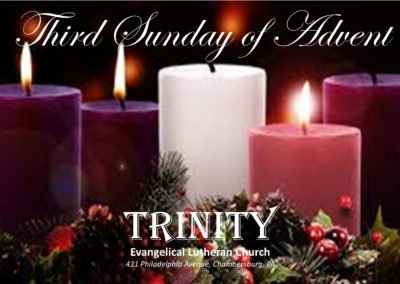 10 AM Traditional Worship Service – Third Sunday of Advent