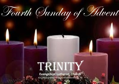 Streamed Worship Service – Fourth Sunday of Advent