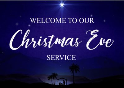 Streamed Christmas Eve Service