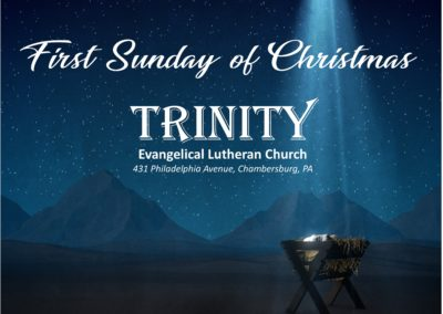 Streamed Worship Service – First Sunday of Christmas