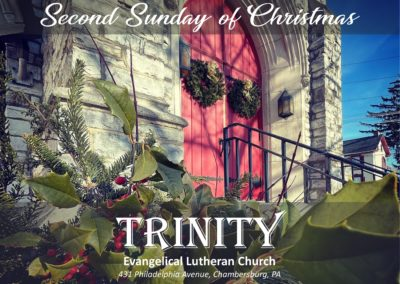 Streamed Worship Service – Second Sunday of Christmas
