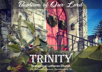 Streamed Worship Service – Baptism of Our Lord