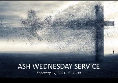 Streamed Worship Service – Ash Wednesday