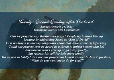 22nd Sunday after Pentecost